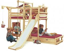 bunk bed with slide images about small space ideas on pinterest peaceful play bunk beds interior design and furniture throughout kids bunk beds
