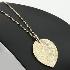 gold colored chain necklace images Gold color chain leaf design necklace loxlux jewelry jpg