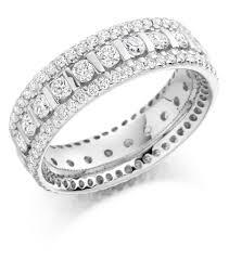 diamond eternity rings images Graduated triple row diamond set ring fet 1371 01 677 8449 jpg