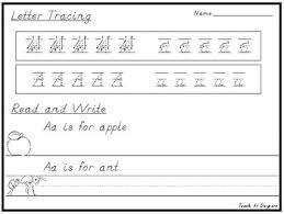 d u0027nealian handwriting letter tracing and read and write worksheets