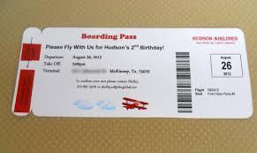 boarding pass invitations boarding pass invitation