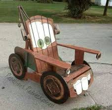 mater made out of wood chair for the