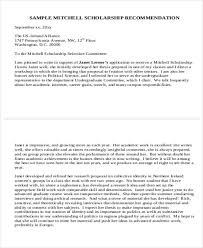 10 recommendation letters for scholarship free sample example
