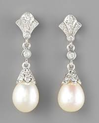 wedding earrings drop diamond pearl drop earrings neiman for a