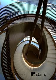 Looking Down Stairs by Large Bronze Helical Staircase Eedesign