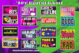 8o s 80 s eighties signs photo booth props prop signs
