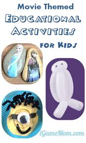 movie themed educational activities kids