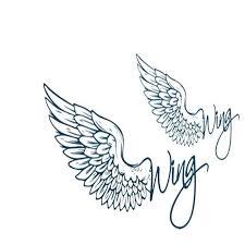 spray waterproof wing word temporary arm tattoos