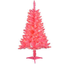 4 Christmas Tree With Lights by 4 U0027 Pre Lit Pink Tinsel Artificial Christmas Tree Clear Lights
