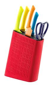 knifes multifunctional colored cheap kitchen knife block set for