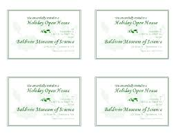 open house invitation open house invitation 4 per page office templates