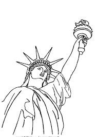 awesome picture of statue of liberty coloring page download