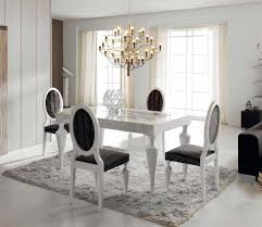 Chair Chairs For Dining Table White Leather - Black and white contemporary dining table
