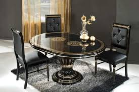 dining room furniture glamorous black euro round extendable