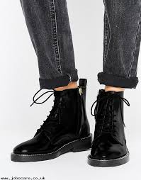 womens flat boots uk antartica leather lace up ankle boots womens 100 leather