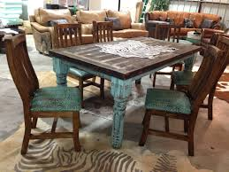 Whiskey Barrel Kitchen Table Barn Table U0026 Chairs By Cowhide Western Furniture Cowhide Western