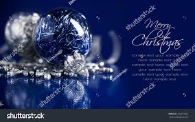 silver blue ornaments on stock photo 233247064