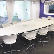 White Boardroom Table Modern Boardroom Tables Fusion Executive Office Furniture
