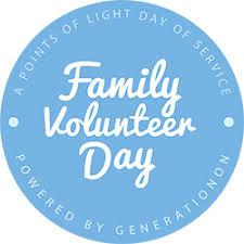 family volunteer day points of light