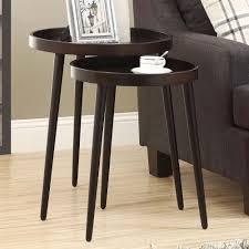 Mid Century Modern Round Coffee Table Mid Century Modern Danish Style Espresso Wood Round Nesting Tables