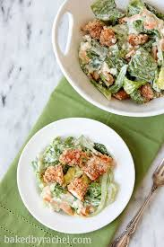 buffalo chicken tender salad with blue cheese dressing baked by
