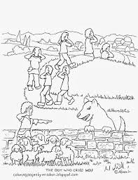 coloring pages kids adron boy cried wolf free