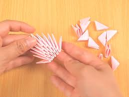 How To Fold Paper For Envelope How To Make 3d Origami Pieces With Pictures Wikihow