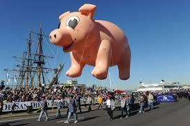 pig balloons helium parade balloons 30 pig balloon