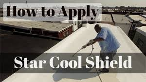 Surecoat Roof Coating by How To Apply Cool Roof Coating Star Cool Shield Www Starshield In