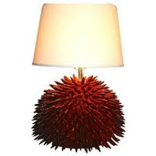 Quill Desk Lamp Impala Horn And Porcupine Quill Table Lamp For Sale At 1stdibs