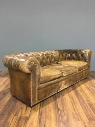 midc vintage chesterfield sofa in original leather robinson of