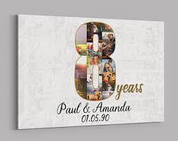 8 year anniversary gifts 8 year anniversary etsy