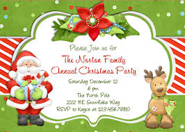Card Party Invitation Christmas Holiday Party And Dinner Invitation Card Design Ideas To