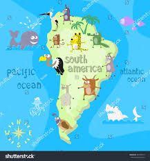 Map If South America Concept Design Map South American Continent Stock Vector 447205519