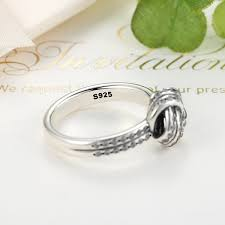 knot promise ring 925 sterling silver sparkling knot stackable promise ring