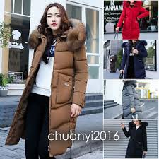 2018 womens fashion winter coat jacket fur hooded down coat korea