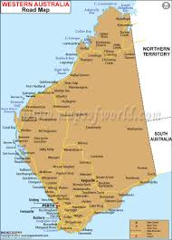 Map Of Western Mexico by Western Australia Road Map Maps Of World