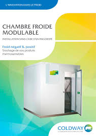 la chambre froide chambre froide coldway catalogue pdf documentation technique