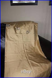 50 X 96 Curtains Pottery Barn Dupioni Silk Drapes Two 50 96 Curtains Cotton Lining