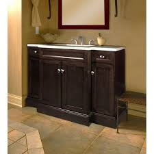 bathroom 42 inch single sink modern vanity with mahogany top