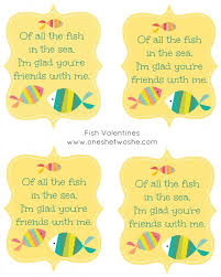 fish valentines of all the fish in the sea fish printable fish
