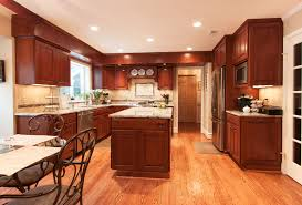 a cherry wood kitchen cabinet custom kitchen remodel honey brook custom cabinets in