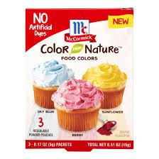mccormick color nature food colors 3 ct walmart com