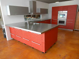 stainless steel countertop with built in sink stainless steel counter tops l shaped countertop island