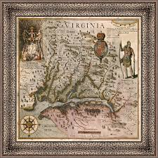 Virginia Colony Map by The Virginia Scarf The National Society Of The Colonial Dames Of