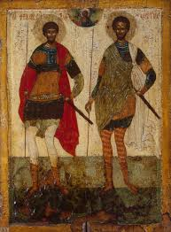 icon of st theodore stratelates and st theodore of tyre old