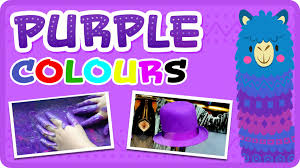 learn the colour purple in english colour learning videos for