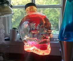 skull lava light made from old lantern 5 steps with pictures