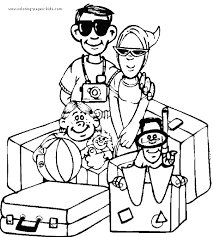 beach coloring pages holiday dessincoloriage