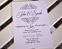 vow renewal invitation anniversary party invitation celebrating